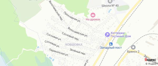 Волочаевская улица на карте Брянска с номерами домов