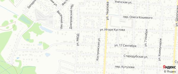 Проезд 17 Сентября на карте Брянска с номерами домов