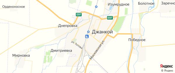 Карта Джанкоя с районами, улицами и номерами домов