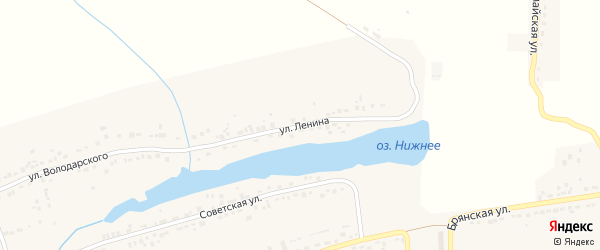 Улица Ленина на карте поселка Любохны с номерами домов