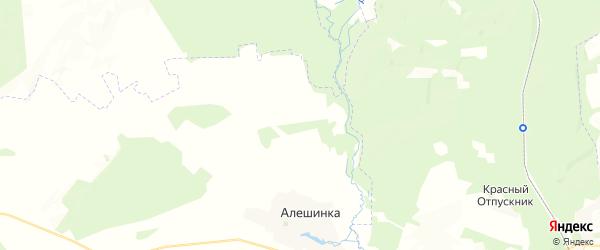 Карта территории Вздруженского сельского поселения Брянской области с районами, улицами и номерами домов