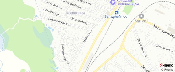 Зеленая улица на карте поселка Снежка с номерами домов