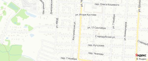 Костромская улица на карте Брянска с номерами домов