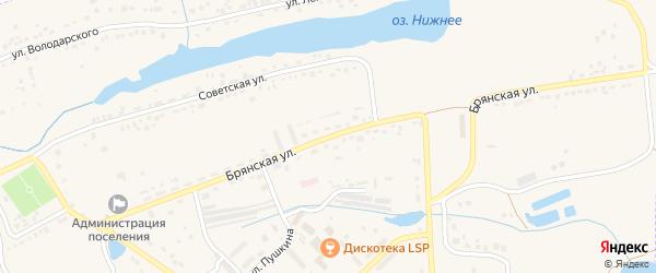 Брянская улица на карте поселка Любохны с номерами домов