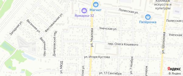 Улица Чкалова на карте Брянска с номерами домов