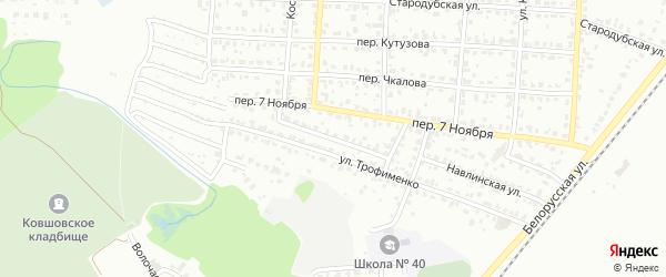 Проезд Кутузова на карте Брянска с номерами домов