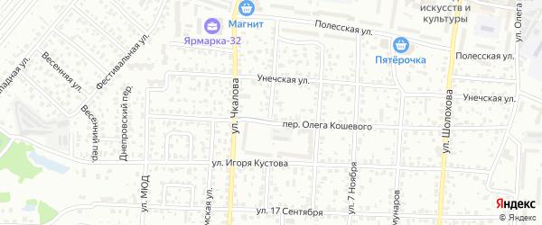 Севастопольская улица на карте Брянска с номерами домов