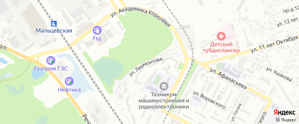 Улица Лермонтова на карте Брянска с номерами домов