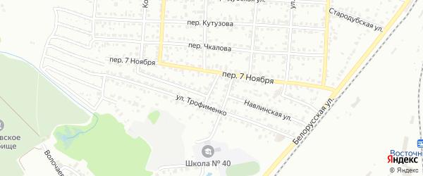 Переулок Трофименко на карте Брянска с номерами домов