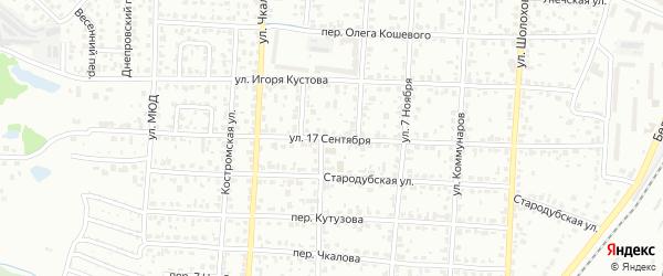 Улица 17 Сентября на карте Брянска с номерами домов