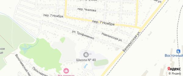 Проезд Трофименко на карте Брянска с номерами домов
