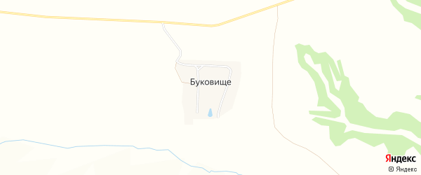 Карта поселка Буковища в Брянской области с улицами и номерами домов