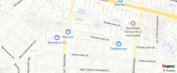 Полесская улица на карте Брянска с номерами домов
