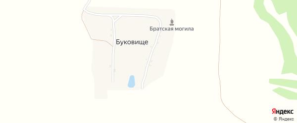 Улица К.И.Савельева на карте поселка Буковища с номерами домов