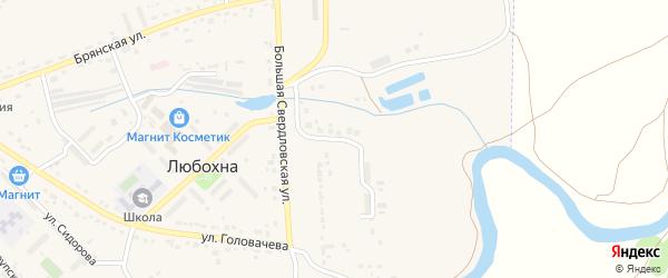 Улица Большая Свердловская 204 км на карте поселка Любохны с номерами домов