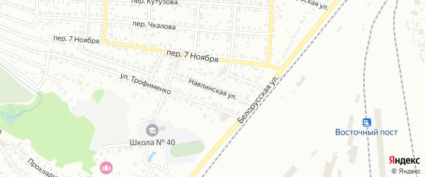 Навлинская улица на карте Брянска с номерами домов