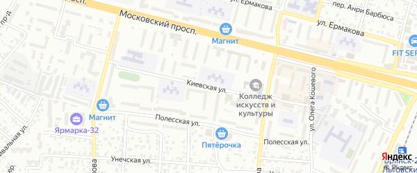 Со Земляника ул Киевская территория на карте Брянска с номерами домов