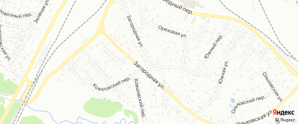 Загородная улица на карте Брянска с номерами домов