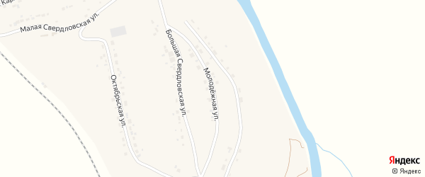 Молодежная улица на карте поселка Любохны с номерами домов