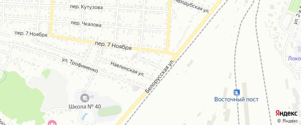 Навлинский переулок на карте Брянска с номерами домов