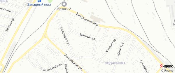 Ореховая улица на карте Брянска с номерами домов
