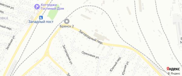 Загородный переулок на карте Брянска с номерами домов