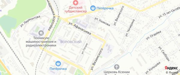 Улица Гоголя на карте Брянска с номерами домов