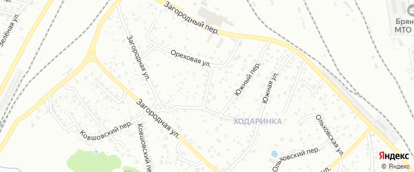 Ореховый переулок на карте Брянска с номерами домов