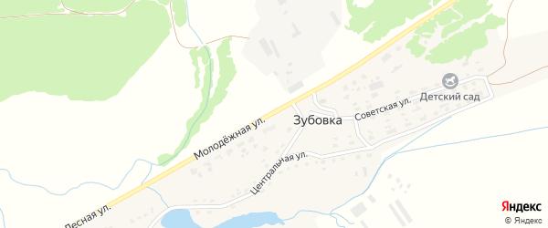 Молодежная улица на карте деревни Зубовки с номерами домов