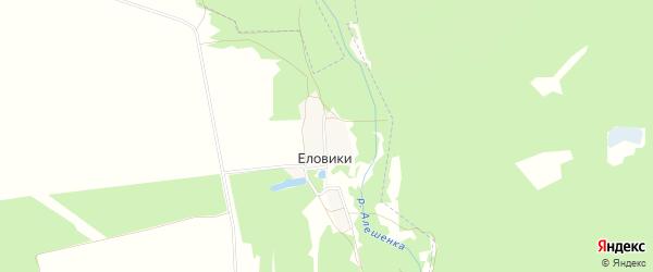 Карта поселка Еловики в Брянской области с улицами и номерами домов