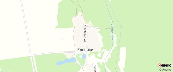 Ключевая улица на карте поселка Еловики с номерами домов