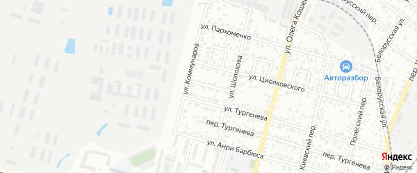 Переулок Коммунаров на карте Брянска с номерами домов