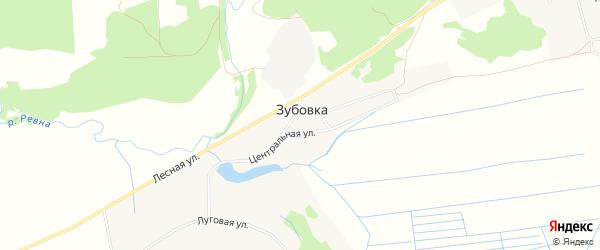 Карта деревни Зубовки в Брянской области с улицами и номерами домов