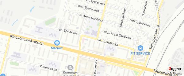 Улица Ермакова на карте Брянска с номерами домов