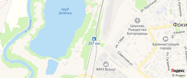 Улица Платформа 207 км на карте Фокино с номерами домов