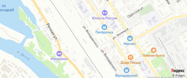 Улица Володарского на карте Брянска с номерами домов