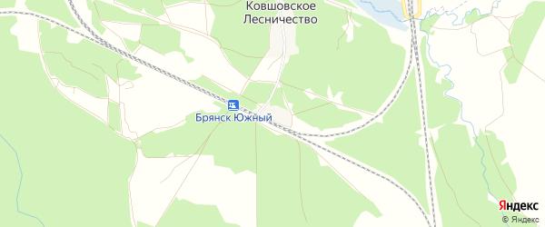 Карта поселка Южной Развязки в Брянской области с улицами и номерами домов