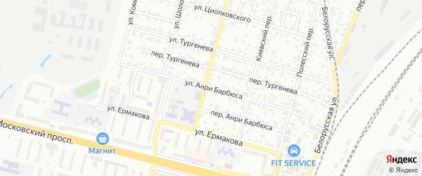 Улица Анри Барбюса на карте Брянска с номерами домов