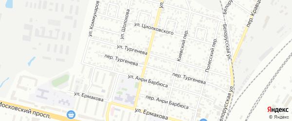 Улица Олега Кошевого на карте Брянска с номерами домов