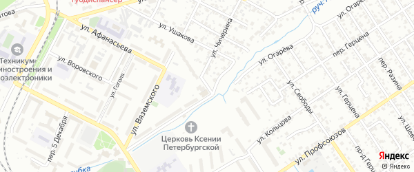 Переулок Вяземского на карте Брянска с номерами домов