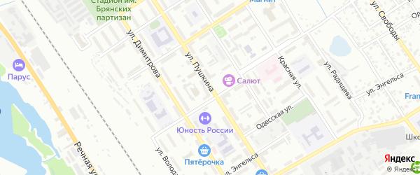 Территория ГО по ул Пушкина на карте Брянска с номерами домов