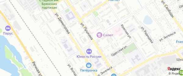 Улица Пушкина на карте Брянска с номерами домов
