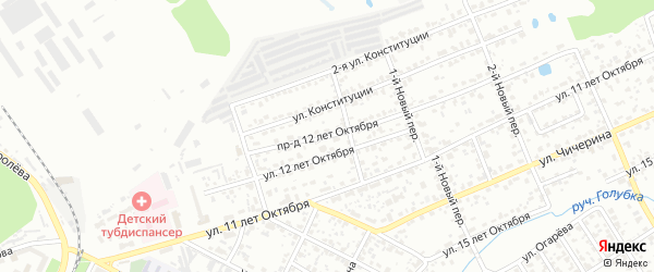 Проезд 12 лет Октября на карте Брянска с номерами домов