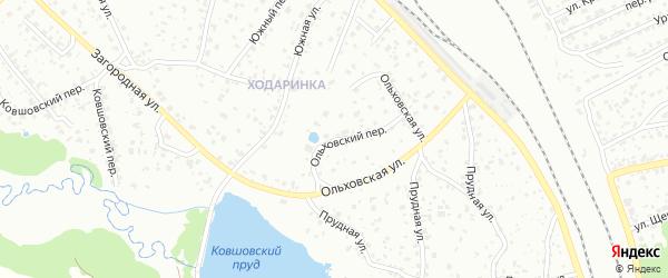 Ольховский переулок на карте Брянска с номерами домов