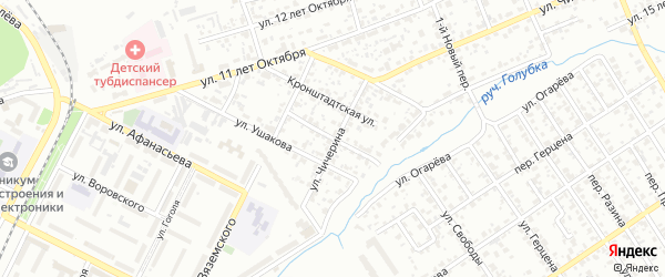 Переулок Ушакова на карте Брянска с номерами домов