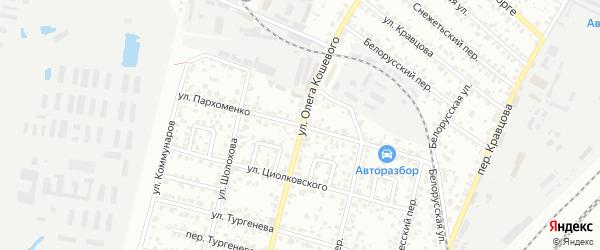 Улица Пархоменко на карте Брянска с номерами домов