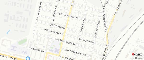 Улица Тургенева на карте Брянска с номерами домов