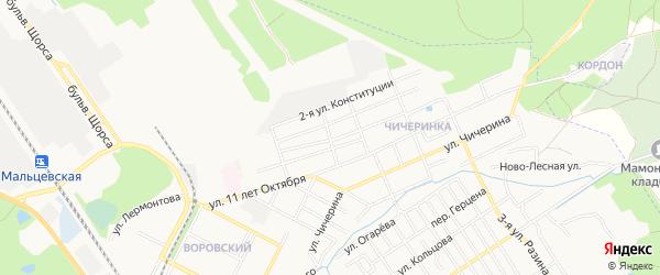 Территория БГ по ул 12 лет Октября на карте Брянска с номерами домов