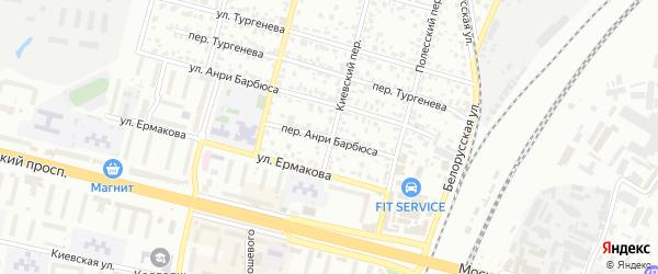 Переулок Анри Барбюса на карте Брянска с номерами домов