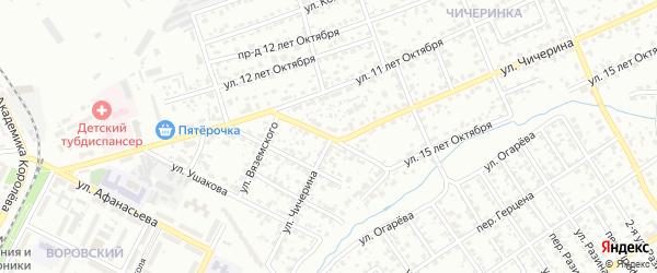 Кронштадтский переулок на карте Брянска с номерами домов